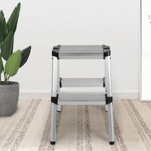 ECHELLE Echelle chaise Échelle Marchepied Pliante 2 Marche