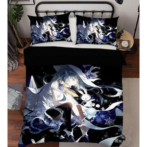 HOUSSE DE COUETTE ET TAIES 3D Hatsune Miku 856 Japan Anime Game 175*200cm + 2