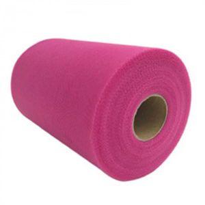 BANDEROLE - BANNIÈRE Version rose - Tulle Rouleau Tissu 15 Cm 100 Yards