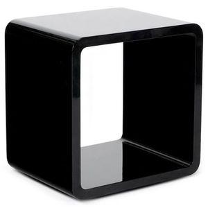 CASIER POUR MEUBLE KUB - Cube de rangement noir laqué - 45x35x45cm