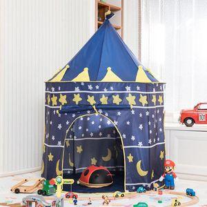 TENTE TUNNEL D'ACTIVITÉ Tente Enfants Bébé Bleu, Princesse Chateau Filles