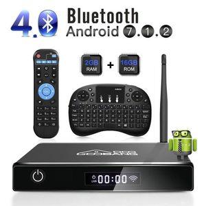 BOX MULTIMEDIA Android 7.1 Smart TV Box, 2018 XB-III Boîtier TV 2