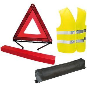 KIT DE SÉCURITÉ Ensemble Triangle signalisation + Veste sécurité