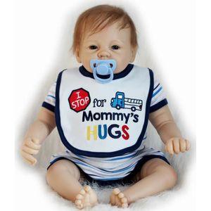 POUPÉE 55cm Silicone poupées Reborn Baby réaliste la main