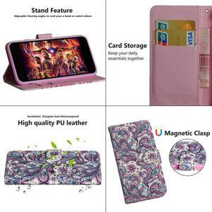 COQUE - BUMPER Coque LG W10,Vortex Cuir Premium Porte-cartes Fonc