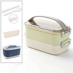 LUNCH BOX - BENTO  Vert-Lunch Box-Lunch Box, Lunch Box Adulte pour En