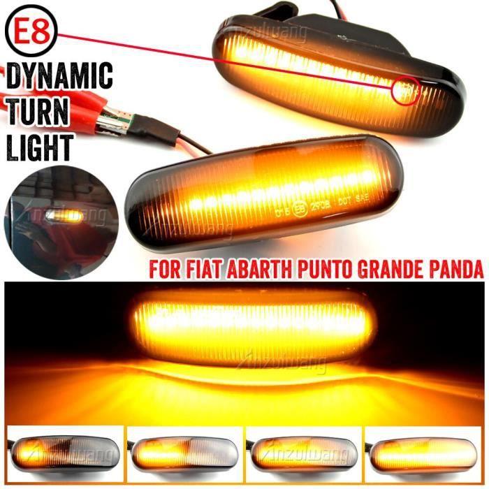 1 paire dynamique fumée LED feu de position latéral clignotant lampe pour Fiat Panda Punto Evo Stilo Qubo Peugeot [705D0EA]