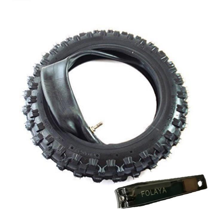 2.50-10 Pneu Dirt Bike /Pit Bike / Mini Pneu de Cross - 2.50-10 - Traverser Profile - avec Tuyau