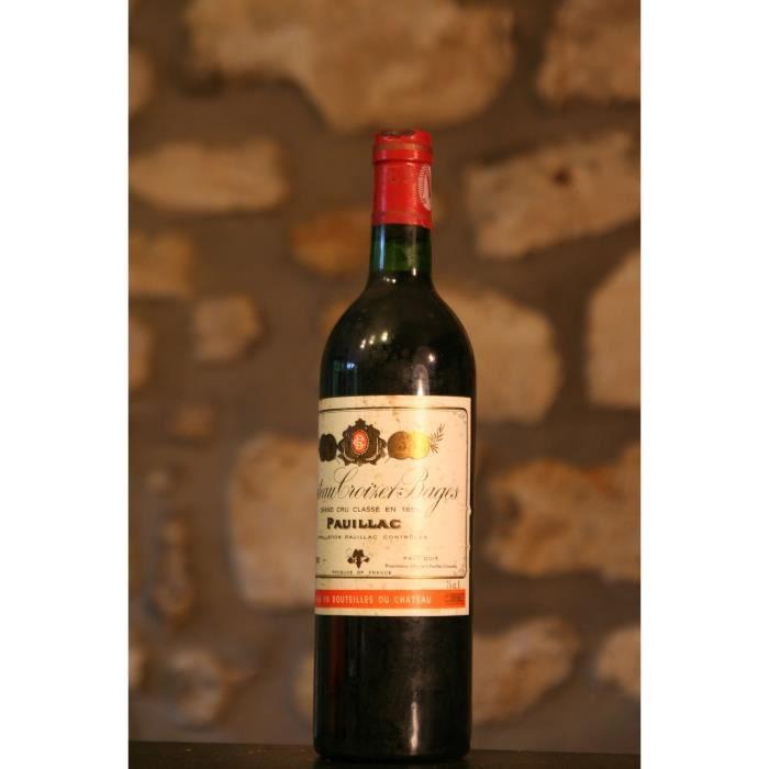 Vin rouge, Château Croizet Bages 1980 Rouge