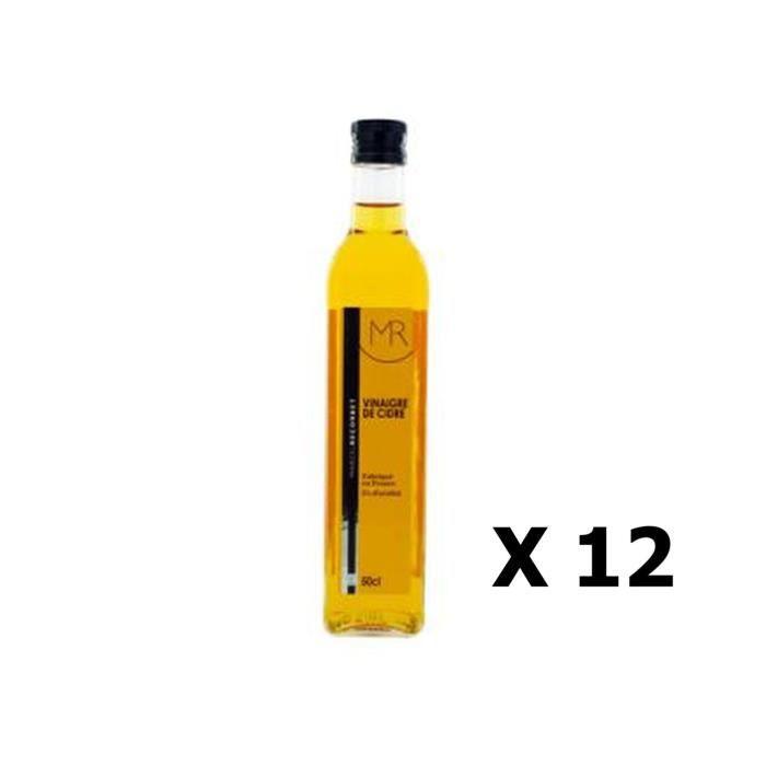 Lot 12x Vinaigre de cidre - Marcel Recorbet - bouteille 500ml