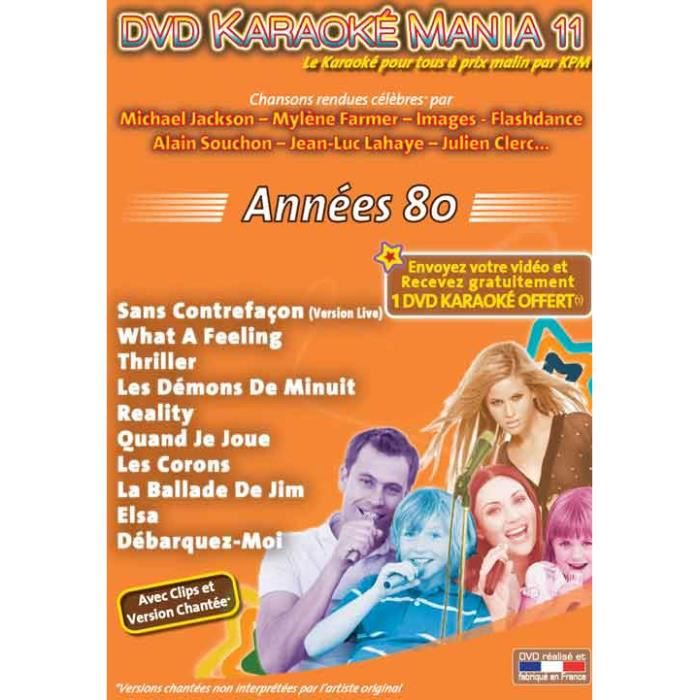 DVD Karaoké Mania Vol.11 -Années 80-