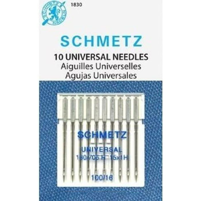 Schmetz Aiguilles pour machine à coudre, universelle, Taille 100/16, Paquet de 10 aiguilles