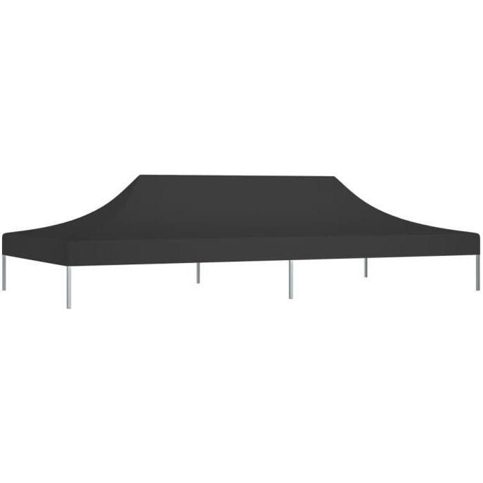 Bonne qualité - Toit de tente de réception - Toile de Tonnelle 6x3 m Noir 270 g-m² Pour Extérieur Terrasse Jardin Patio @1294 :