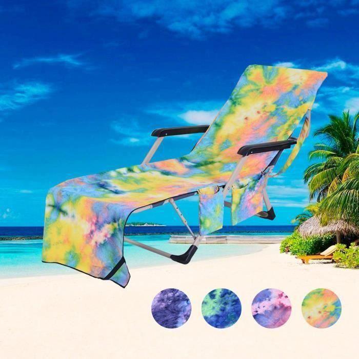 Chaise de plage Serviette de plage Housse de chaise Chaise longue serviette couverture pour piscine Sun Lounger Hôtel vacance