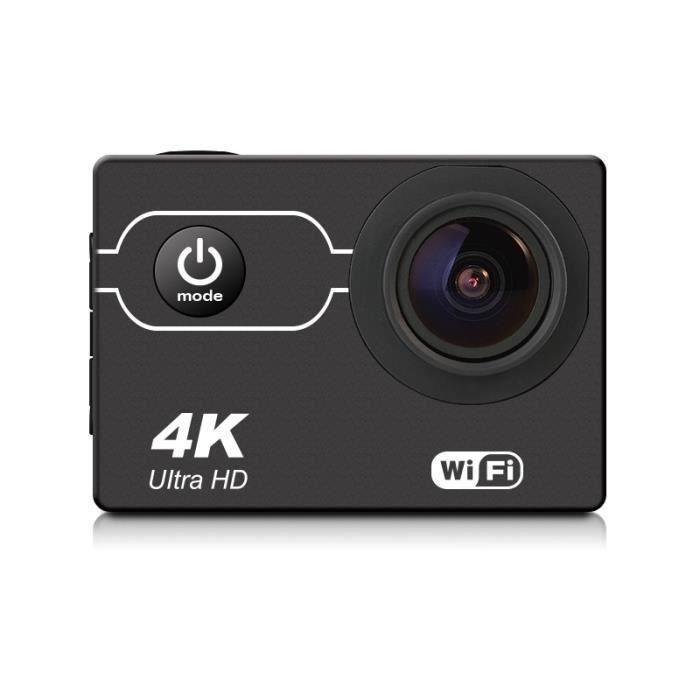 Waterproof 4K 16MP Sports Action Camera WIFI Sony CMOS Sensor with 21 Accessory Bundle Noir la38748