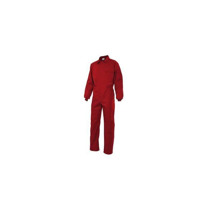 Combinaison bleu de travail modèle Italien 65% polyester 35% coton 190 gr/m2 - Rouge - 214 - Velilla 54