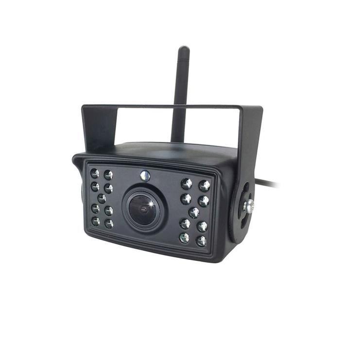 Caméra de recul de voiture sans fil WiFi Camion Bus 12V ~ 24V HD caméra de recul de Vision nocturne, moniteur de recul sans fil