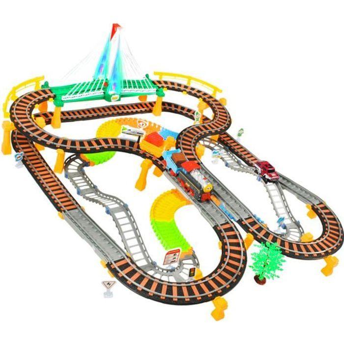 MonMobilierDesign Circuit petit train et voiture à partir de 6 ans