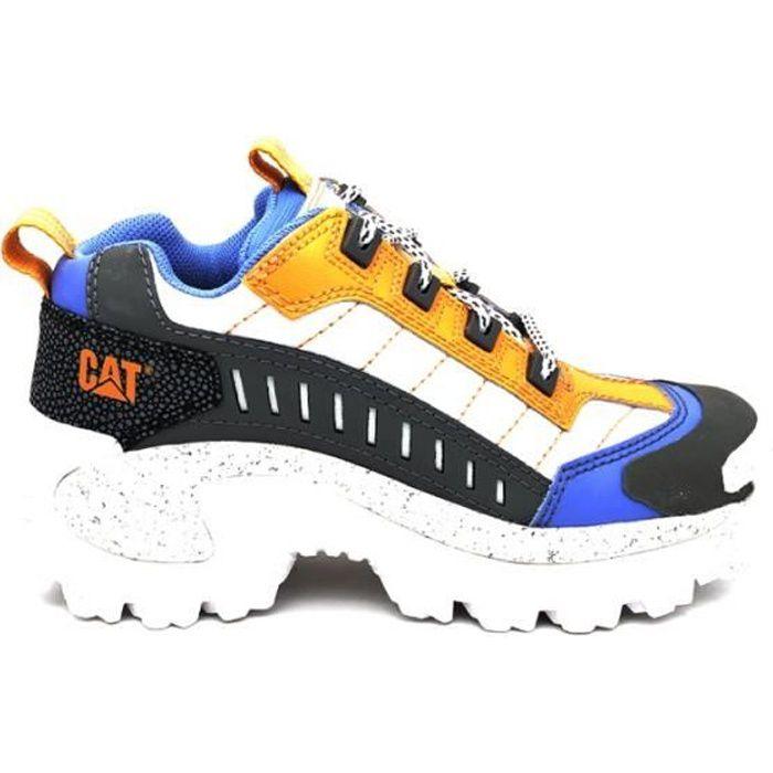 Caterpillar Basket basse Cuir Homme Orange