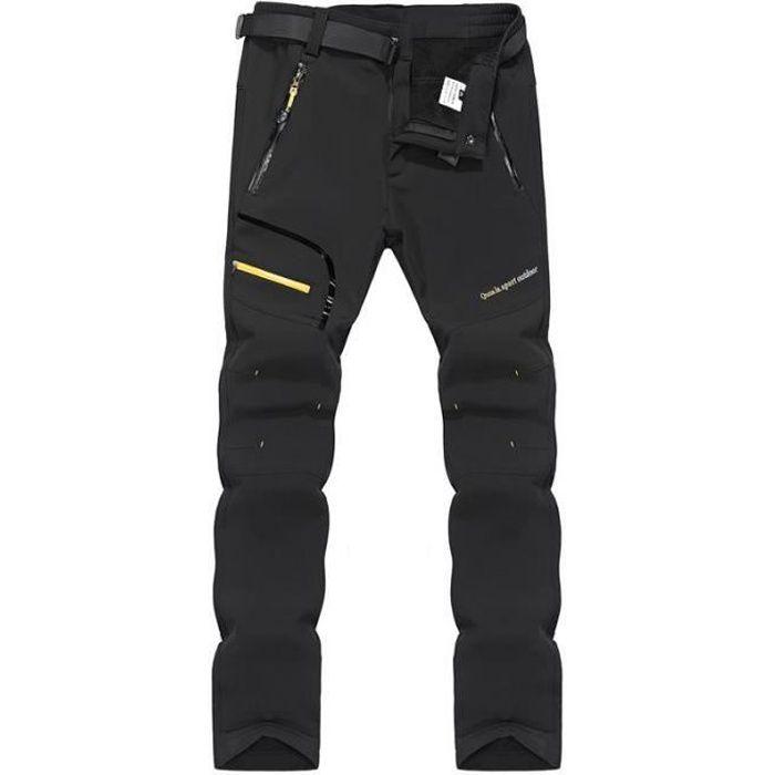 Pantalon de Randonnée Hiver Homme Doublé Polaire Chaud Tissu Respirant