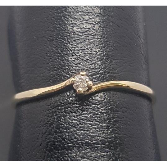 Bague Diamant Solitaire en Or Jaune 375ème