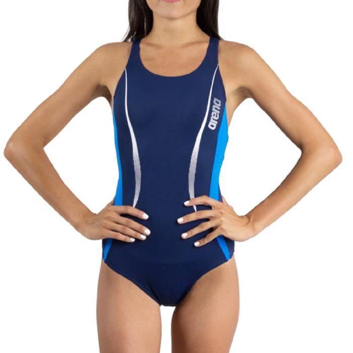 Maillot de bain bleu marine femme Arena Reindel
