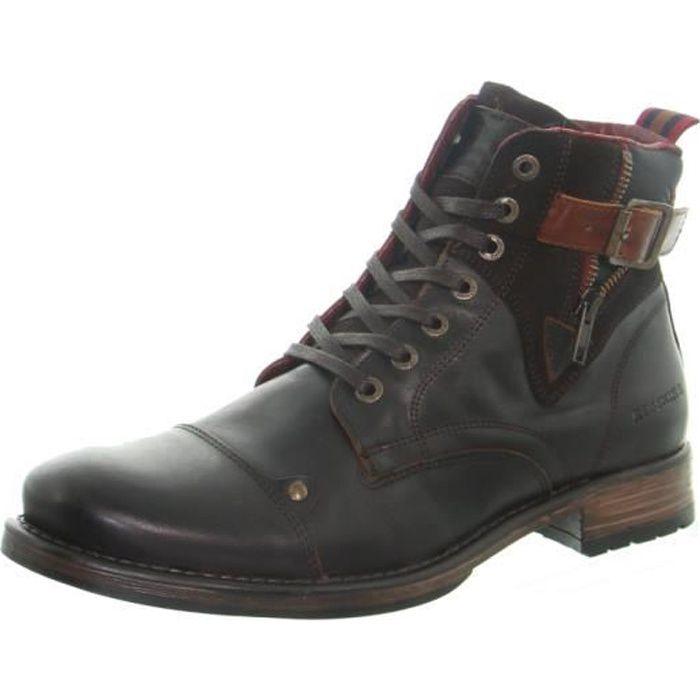 Boots Redskins Yero en cuir ref_50307 Marron/Cognac