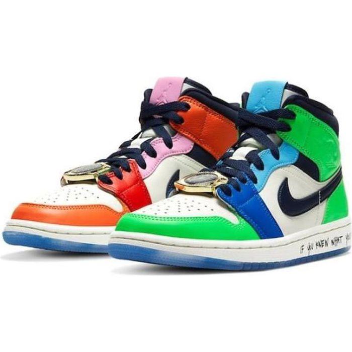Air Jordan 1 Mid-Fearless-Chaussures de Sport Basket AJ 1 Pas Cher pour Homme Femme
