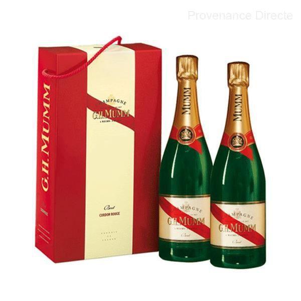 Coffret champagne 2 bouteilles de Mumm Cordon Rouge Brut