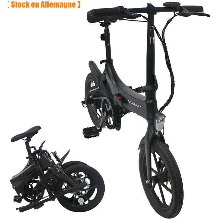 2020 ONEBOT S6 Vélo électrique Pliable réglage 3 Vitesses Cadre léger en Alliage de magnésium Pneu antidérapant Résistant à l'usure