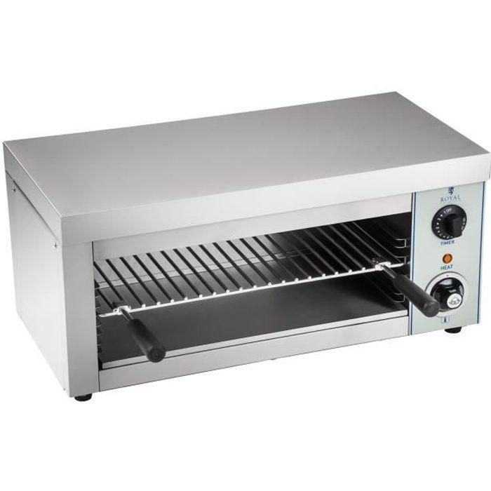 Salamandre Toaster de cuisine électrique 1 Élément chauffant infrarouge 2000W 32x61x2850cm Royal Catering RCES-2000-EGO