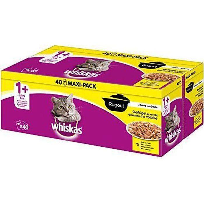Whiskas 5900951267819 - COMMUTATEUR KVM - Doublure de Nourriture pour chats ragout + 1, 40 sachets