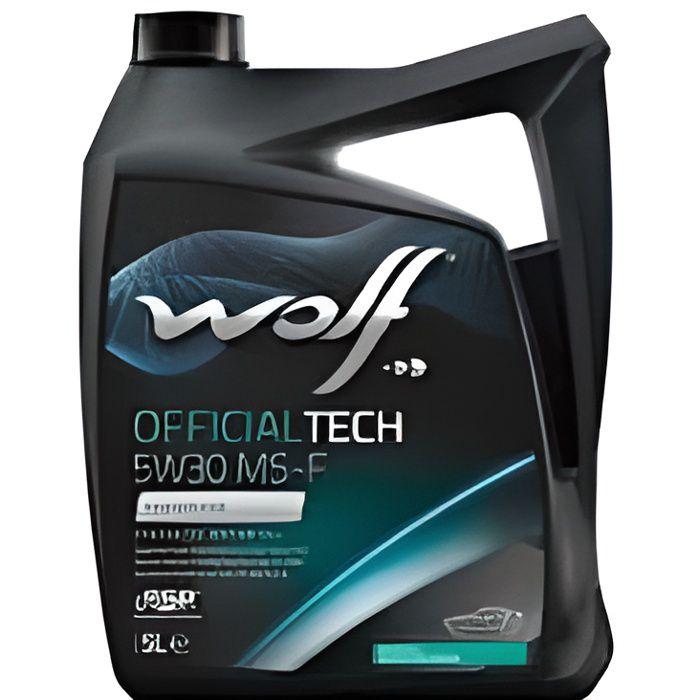 Bidon 5 litres d'huile moteur 5W30 MS-F Wolf 8308819