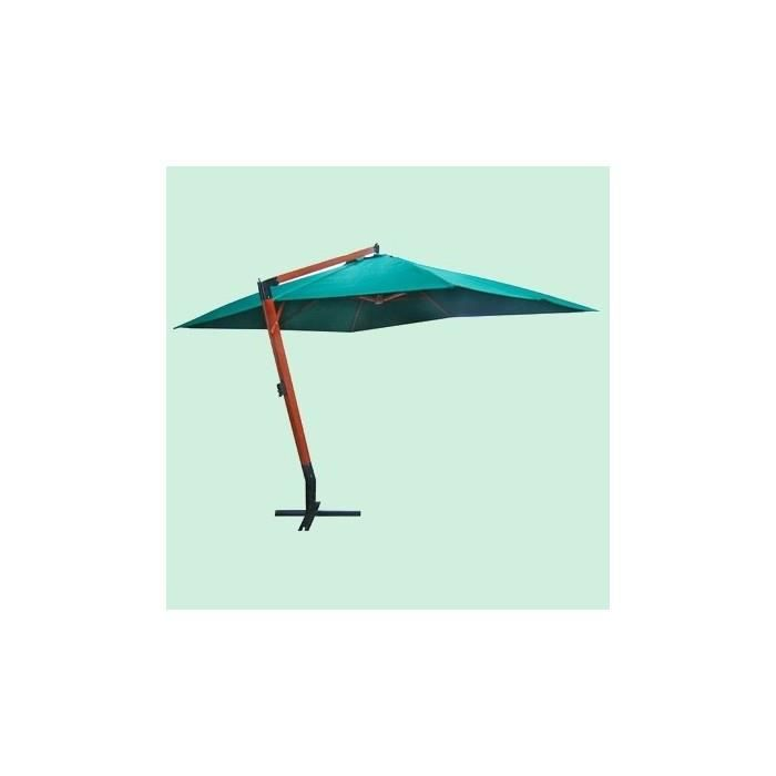 grand parasol d port 4x3 m vert achat vente parasol. Black Bedroom Furniture Sets. Home Design Ideas