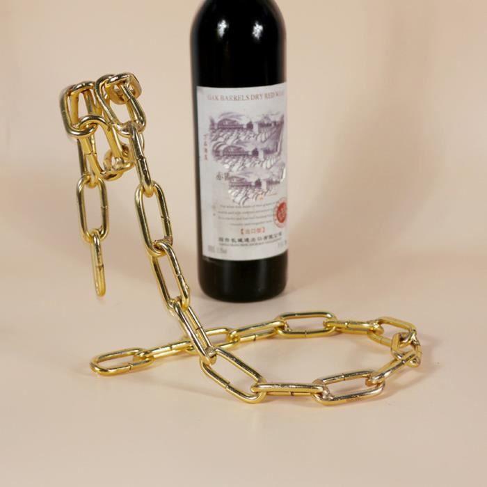 Porte-bouteille de vin flottant Magic Illusion Porte-chaîne en corde Lasso