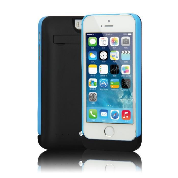 coque rechargeable batterie externe iphone 5 5s 5c achat. Black Bedroom Furniture Sets. Home Design Ideas