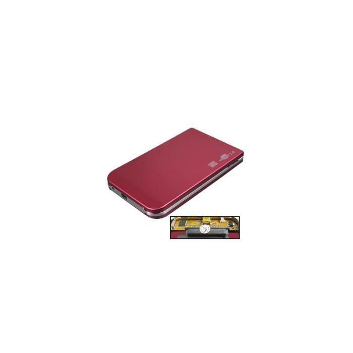 DISQUE DUR EXTERNE Boîtier externe HDD SATA de 2,5 pouces (rouge)