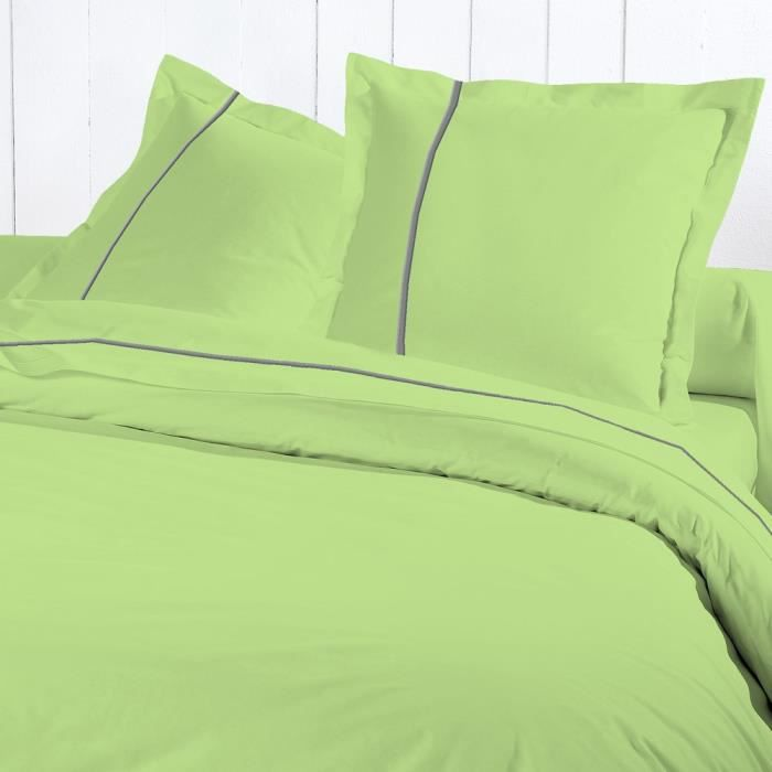 David olivier drap housse 200x200 percale v anis achat for Draps housse 200x200