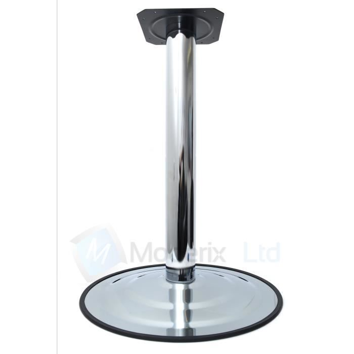 Pied de table de bar chrome 735mm x 495mm achat vente - Pied de table bar ...