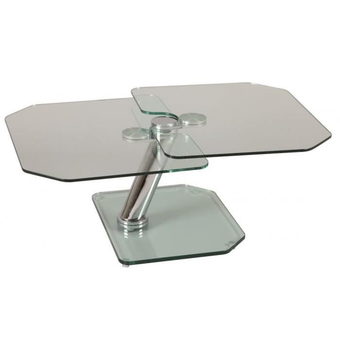 Table basse fly double plateaux achat vente table for Table basse pour studio