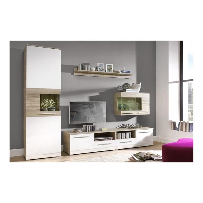 Justhome in line ensemble de meubles de salon couleur for Meuble living blanc