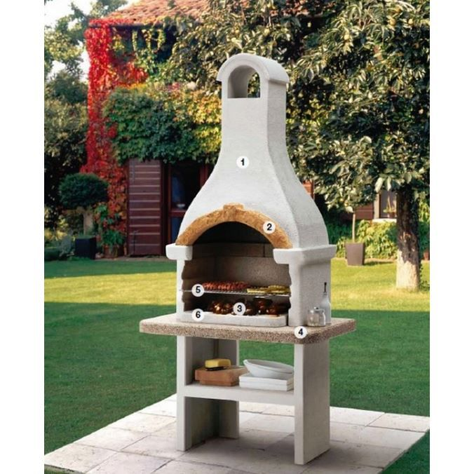barbecue en pierre dino 2 achat vente barbecue barbecue en pierre dino 2 cdiscount. Black Bedroom Furniture Sets. Home Design Ideas