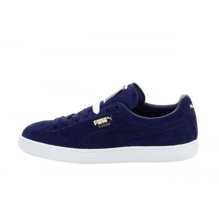 Basket puma Suede Mixte Bleu Nuit Bleu - Cdiscount Chaussures