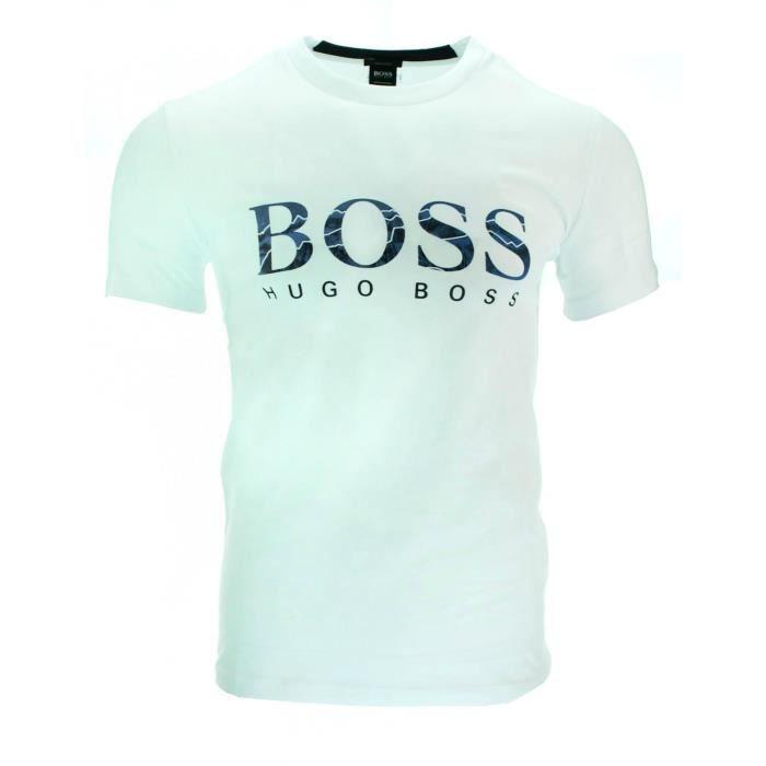 2er Pack Boss HUGO Hommes T-shirts manches courtes Crew-neck choix de couleur blanc noir neuf