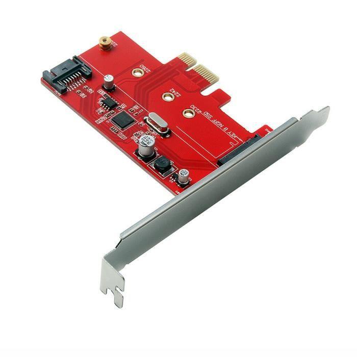 CARTE CONTROLEUR Carte Adaptateur M.2 Pcie Ssd À Pcie 3.0 X1 Et M.2