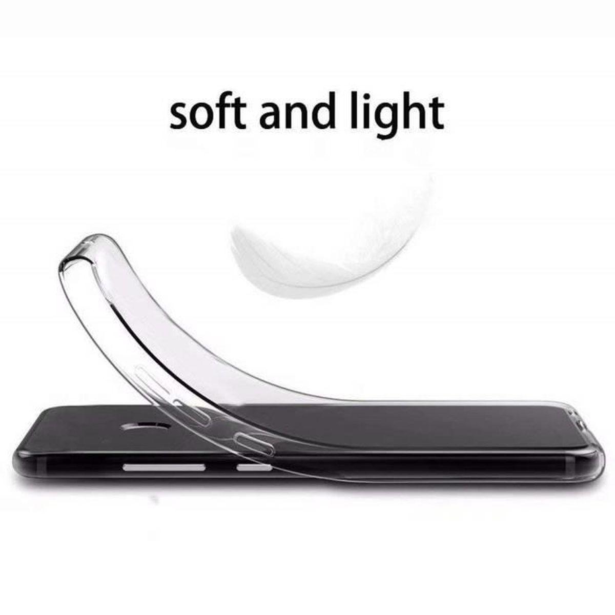 2 X Coque Huawei P Smart /Enjoy 7S, Donut flamant Doux Souple Transparent TPU Housse Étui Pour Huawei P Smart /Enjoy 7S