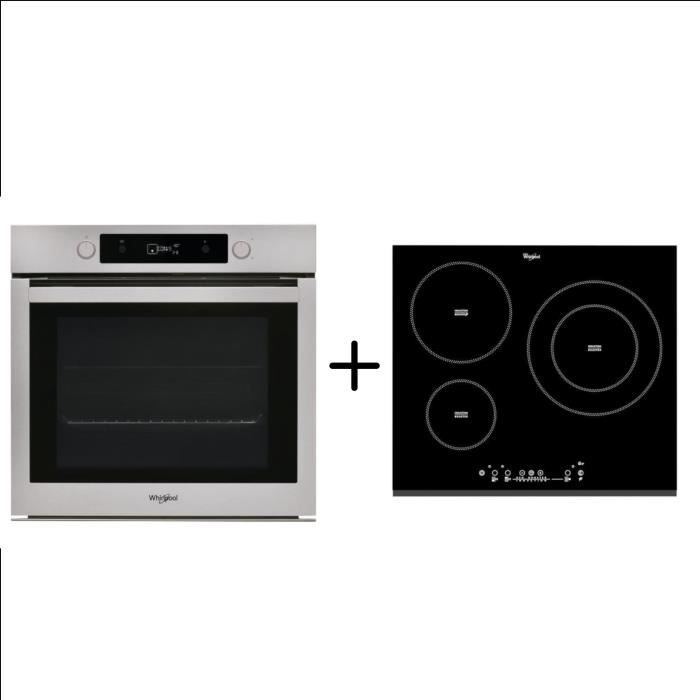 WHIRLPOOL OAKP9481CIX Four électrique - Chaleur tournante - 73 L + ACM860BF - Plaque de cuisson induction - Pack encastrable