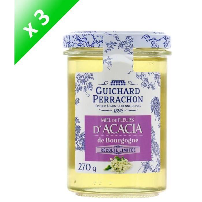 GUICHARD PERRACHON Miel Acacia de Bourgogne - 270 g x3