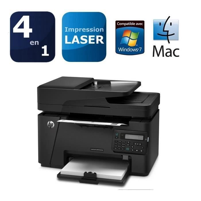 imprimante laser hp laserjet pro mfp m127fn prix pas cher cdiscount. Black Bedroom Furniture Sets. Home Design Ideas