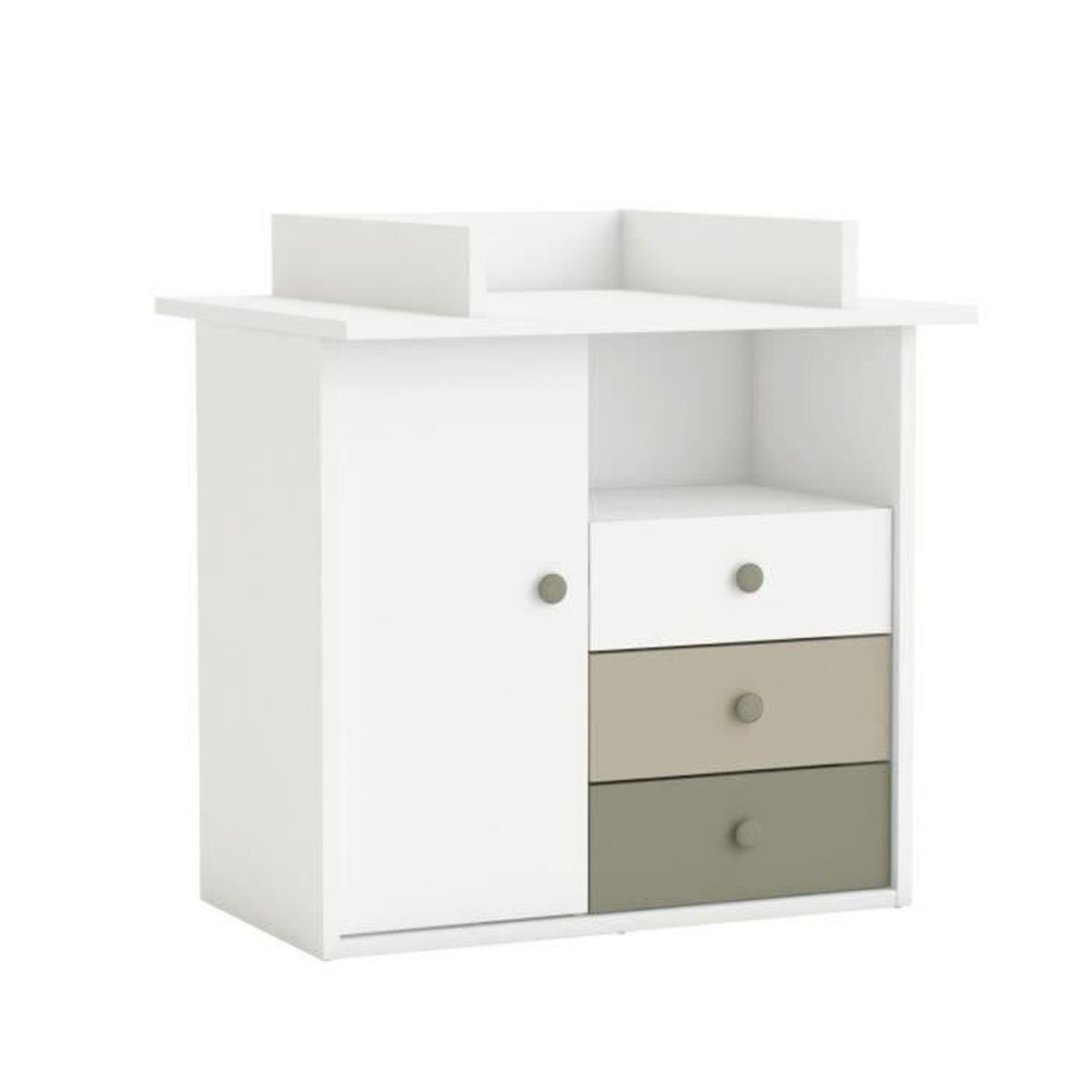 commode dream langer 1 portes 3 tiroirs 1 niche en. Black Bedroom Furniture Sets. Home Design Ideas